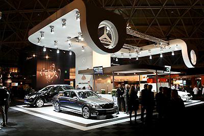 NLD/Amsterdam/20081213 - Miljonairfair 2008, stand van autofabrikant mercedes Benz