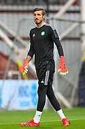 Vasilis Barkas (#1) of Celtic FC during the warm up before the Cinch SPFL Premiership match between Heart of Midlothian FC and Celtic FC at Tynecastle Park, Edinburgh, Scotland on 31 July 2021.