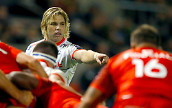 Sale Sharks' Faf De Klerk in action against Toulouse, during the European Challenge Cup pool two match at the AJ Bell Stadium, Sale. PRESS ASSOCIATION Photo. Picture date: Friday October 13, 2017. See PA story RUGBYU Sale. Photo credit should read: Martin Rickett/PA Wire.