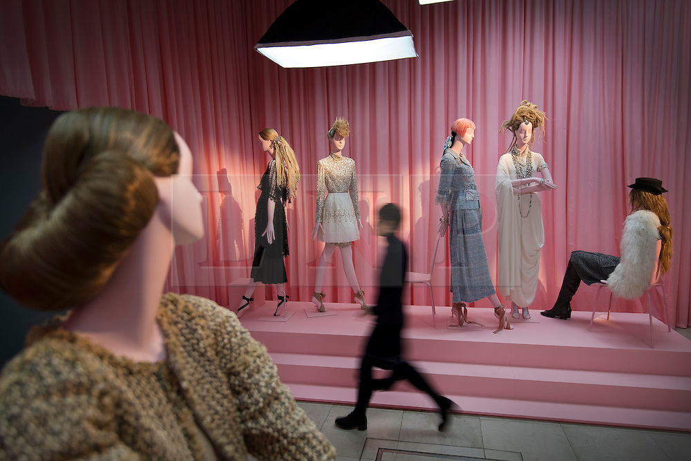 © Licensed to London News Pictures. 01/11/2016. London, UK. A display of mannequins at the 'Hair by Sam McKnight' exhibition at Somerset House highlights his work for Chanel. The show, which runs from 2nd November, 2016 to 12th March, 2017, celebrates the career of fashion's favourite hair stylist. Photo credit: Peter Macdiarmid/LNP