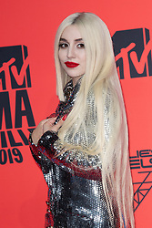 Ava Max attends the MTV EMAs 2019 at FIBES Conference and Exhibition Centre on November 03, 2019 in Seville, Spain. Photo by ABACAPRESS.COM