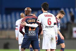February 17, 2018 - Montpellier, France - 19 Souleymane CAMARA (mon) - 06 CLEMENT GRENIER (gui) - FAIR PLAY (Credit Image: © Panoramic via ZUMA Press)