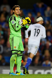 Basel Goalkeeper Yann Sommer (SUI)  looks on during the second half of the match - Photo mandatory by-line: Rogan Thomson/JMP - Tel: 07966 386802 - 18/09/2013 - SPORT - FOOTBALL - Stamford Bridge, London - Chelsea v FC Basel - UEFA Champions League Group E