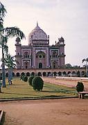 Safdarjung Tomb built 1754, Mughal architecture, Safdarjung ka Maqbara, New Delhi, India in 1964
