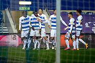 GOAL 2-1 Queens Park Rangers (QPR) midfielder Bright Osayi-Samuel (11) during the EFL Sky Bet Championship match between Queens Park Rangers and Rotherham United at the Kiyan Prince Foundation Stadium, London, England on 24 November 2020.