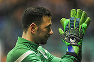 Ofir Marciano is subbed off injured within 10 minutes of the Ladbrokes Scottish Premiership match between Hibernian and Rangers at Easter Road, Edinburgh, Scotland on 19 December 2018.