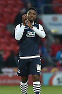Fred Onyedinma of Millwall FC at end of match  during the Sky Bet League 1 match between Doncaster Rovers and Millwall at the Keepmoat Stadium, Doncaster, England on 27 February 2016. Photo by Ian Lyall.