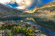 Lake under a peak