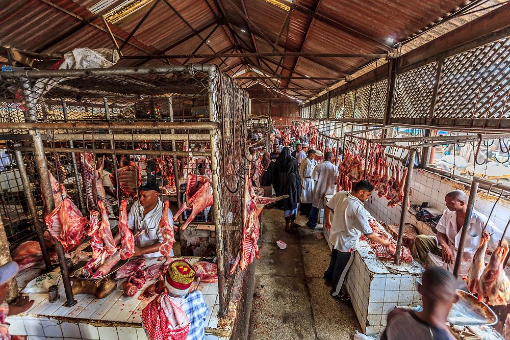 Mackinnon Meat Market in Mombasa, Kenya.