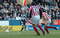 Fotball<br /> Foto: SBI/Digitalsport<br /> NORWAY ONLY<br /> <br /> Sheffield Wednesday v Brentford <br /> Coca Cola league one play off semi final, first round. 12/05/2005. <br /> <br /> Jon-Paul McGovern fires in Wednesdays first goal.