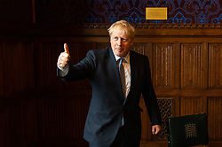 Conservative party leadership contender Boris Johnson during a meeting with President of Iraq Barham Salih at the Houses of Parliament, in Westminster, London.