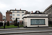 The art deco Chancery Park building on 07th April 2017 in Dublin, Republic of Ireland. The complex is dedicated to Herbert Simms who was appointed Housing Architect for the city of Dublin in 1932. Dublin is the largest city and capital of the Republic of Ireland.