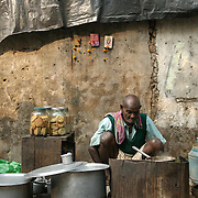A chai stall in Kolkata