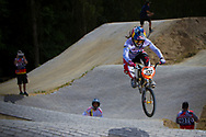 #100 (PAJON Mariana) COL at the 2014 UCI BMX Supercross World Cup in Berlin, Germany.