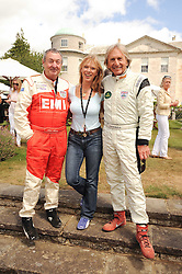 Left to right, NICK & NETTE MASON and GRAHAM BELL at a luncheon hosted by Cartier for their sponsorship of the Style et Luxe part of the Goodwood Festival of Speed at Goodwood House, West Sussex on 4th July 2010.