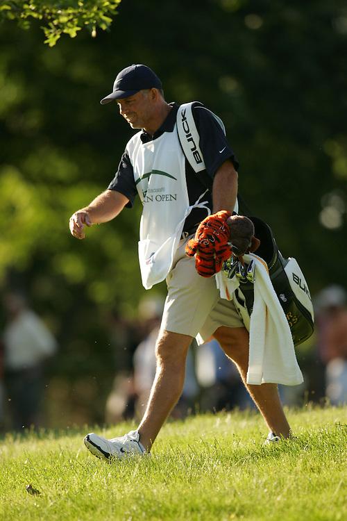 Steve Williams<br />( caddie for Tiger Woods )<br />2005 Western Open<br />Second Round<br />Cog Hill CC<br />Lemont IL<br />Friday, July 1 2005<br />01-JUL-05<br />photograph by Darren Carroll