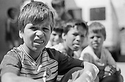 Catalin Cogalniceanu outside the refectory at the orphanage of Popricani when he was 10 in 1995