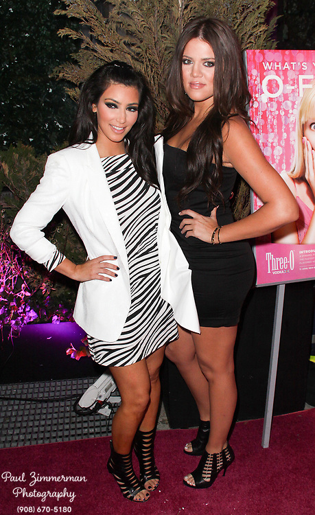 "10 June 2009 - New York, NY - Kim Kardashian and Khloe Kardashian. Three-O Vodka ""Bubble"" launch Party hosted by Kim Kardashian held at Greenhouse. Photo Credit: Paul Zimmerman/AdMedia"
