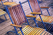 wooden lounge chairs