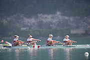 Aiguebelette, FRANCE. CAN W4-.  10:23:43  Sunday  22/06/2014. [Mandatory Credit; Peter Spurrier/Intersport-images] © Peter SPURRIER, Atmospheric, Rowing