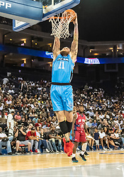 July 6, 2018 - Oakland, CA, U.S. - OAKLAND, CA - JULY 06: Chris 'Birdman' Andersen (11) of Power goes up for a dunk during game 3 in week three of the BIG3 3-on-3 basketball league on Friday, July 6, 2018 at the Oracle Arena in Oakland, CA (Photo by Douglas Stringer/Icon Sportswire) (Credit Image: © Douglas Stringer/Icon SMI via ZUMA Press)