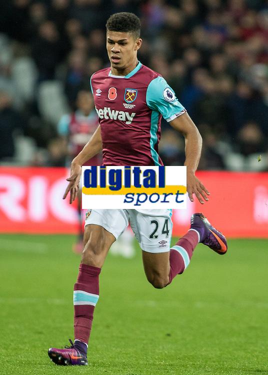 Football - 2016 / 2017 Premier League - West Ham United vs. Stoke City<br /> <br /> Ashley Fletcher of West Ham at The London Stadium.<br /> <br /> COLORSPORT/DANIEL BEARHAM