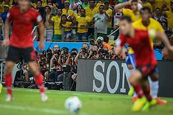 Fotógrafos na partida entre Brasil x México válida pela segunda rodada do grupo A da Copa do Mundo 2014. FOTO: Jefferson Bernardes/ Agência Preview