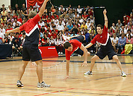 Loughborough, England - Saturday 31 July 2010: The USA team in action during the World Rope Skipping Championships held at Loughborough University, England. The championships run over 7 days and comprise junior categories for 12-14 year olds in the World Youth Tournament, 15-17 year olds male and female championships, and any age open championships. In the team competitions, 6 events are judged, the Single Rope Speed, Double Dutch Speed Relay, Single Rope Pair Freestyle, Single Rope Team Freestyle, Double Dutch Single Freestyle and Double Dutch Pair Freestyle. For more information check www.rs2010.org. Picture by Andrew Tobin/Picture It Now.