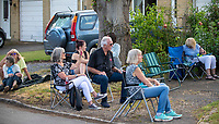 A group of Oxfordshire residents come together to form a band amidst the COVID-19 lockdown which caused UK festivals to cancel.The Sreatton Audley Garden Lockdown Jam was a free gig for all lthe local people to enjoy photo by Brian Jordan