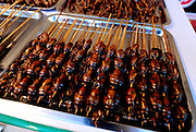 SHENYANG, CHINA - JULY 10: (CHINA OUT) <br /> <br /> Insect Feast <br /> <br />  Insect skewers are seen during Shenyang Summer Food Festival  in Shenyang, Liaoning province of China. <br /> ©Exclusivepix