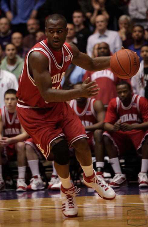 28 January 2009: Indiana guard/forward Malik Story (34) as the Indiana Hoosiers played Northwestern Wildcats in a college basketball game in Evanston, Ill.