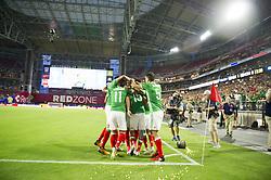 July 20, 2017 - Glendale, Arizona, U.S - Mexico celebrates RODOLFO PIZARRO (15) goal against Honduras in the first half Thursday, July 20, 2017, during the 2017 Gold Cup Quarterfinals at University of Phoenix Stadium in Glendale, Arizona. (Credit Image: © Jeff Brown via ZUMA Wire)