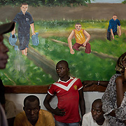 December 9th 2013, in a formation centre of Bangui, over 18 000 IDPs have taken refuge from the violence taking place in the streets.