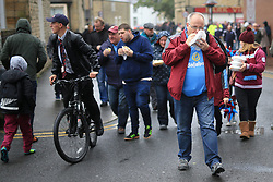 10th September 2017 - Premier League - Burnley v Crystal Palace - Burnley fans enjoy a burger on their way to the game - Photo: Simon Stacpoole / Offside.