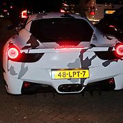 NLD/Amsterdam/20110925 - Benefietavond Red Sun Stichting Stop Kindermisbruik, Ferrari met bijzondere striping