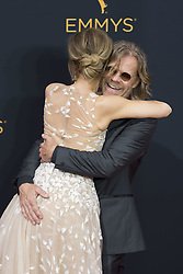 September 18, 2016 - Los Angeles, California, U.S. - FELILos Angeles HUFFMAN and husband WILLIAM H. MACY arrive for the 68th Annual Primetime Emmy Awards, held at the Nokia Theatre. (Credit Image: © Kevin Sullivan via ZUMA Wire)