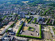 Nederland, Gelderland, Gemeente Arnhem, 14–05-2020; voormalig Enka fabrieksterrein in de wijk Molenbeke.<br /> Former Enka factory site in the Molenbeke district.<br /> luchtfoto (toeslag op standaard tarieven);<br /> aerial photo (additional fee required)<br /> copyright © 2020 foto/photo Siebe Swart