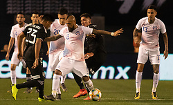 March 22, 2019 - Jesus Gallardo (23) of Mexico and Arturo Vidal (8) of Chile attempt to possess the ball during Mexico's 3-1 victory over Chile. (Credit Image: © Rishi Deka/ZUMA Wire)