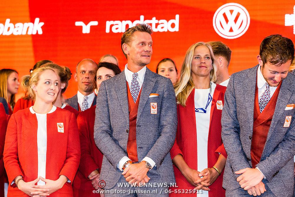 NLD/Scheveningen/20160713 - Perspresentatie sporters voor de Olympische Spelen 2016 in Rio de Janeiro, .........................