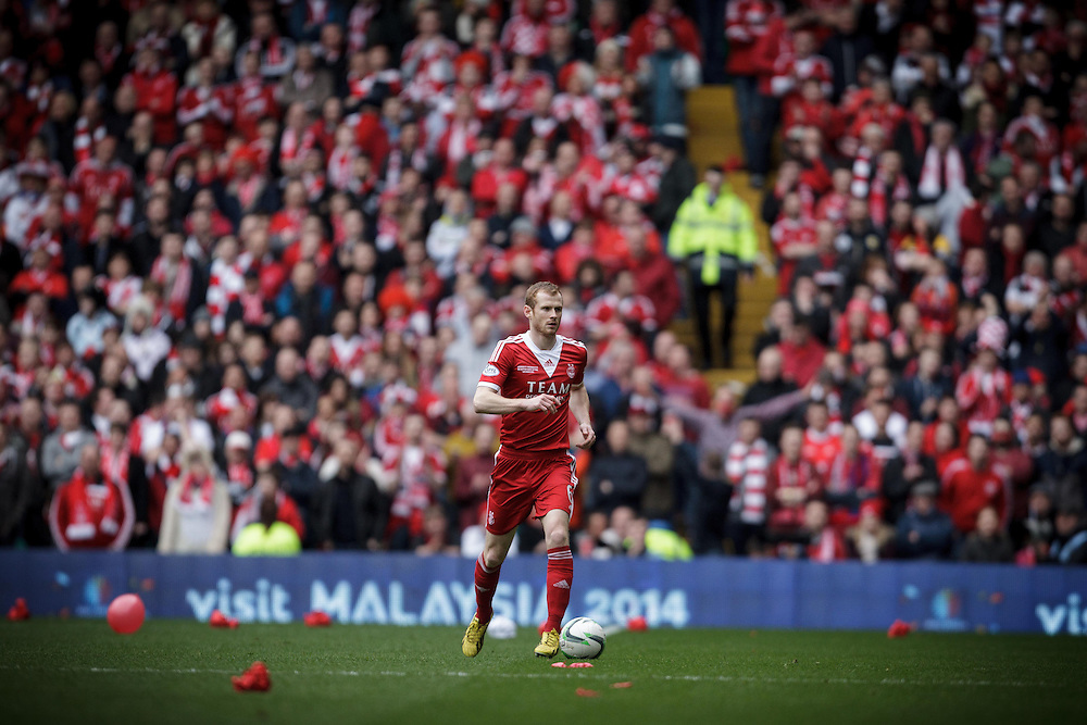 Scottish League Cup Final Aberdeen V Inverness CT at Parkhead on Sunday, 16th of March 2014, Aberdeen Scotland.<br /> Pictured: Mark Reynolds<br /> (Photo Ross Johnston/Newsline Scotland)
