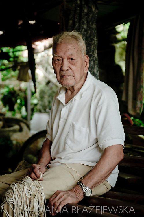 Philippines, Batanes. Grandpa from Sabtang Island who lives in beautiful Chavayan village. It is said he is 104-years old and he is the oldest inhabitant of Batanes.