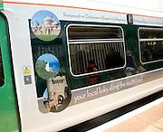 South Coast train carriage at platform