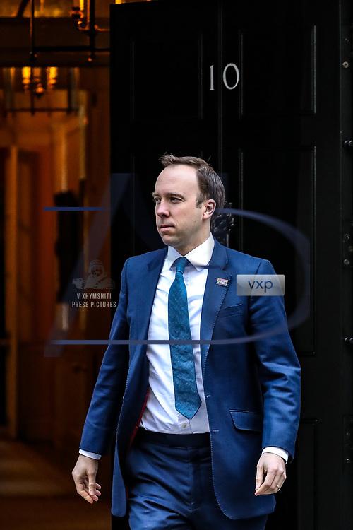 Britain's Secretary of State of Health Matt Hancock is seen outside Downing Street, as the spread of the coronavirus disease (COVID-19) continues, in London, Britain March 23, 2020. (Photo/Vudi Xhymshiti)