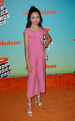 March 23, 2019 - Los Angeles, CA, USA - LOS ANGELES, CA - MARCH 23: Sophie Michelle attends Nickelodeon's 2019 Kids' Choice Awards at Galen Center on March 23, 2019 in Los Angeles, California. Photo: CraSH for imageSPACE (Credit Image: © Imagespace via ZUMA Wire)