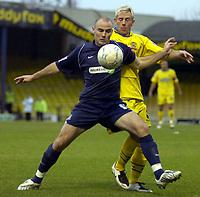 Photo: Matt Bright.<br /> Southend United v Dagenham and Redbridge. FA Cup Third Round. 05/01/2008. <br /> Alan McCormack of Southend & Glen Southam of Dagenham