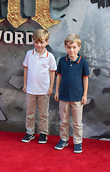 London, May 10th 2017. Zac Barker and Oliver Barker attend the European premiere of King Arthur - Legend of the Sword at the Cineworld Empire in Leicester Square.