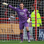 Crawley Town goalkeeper Darryl Flahaven during the Sky Bet League 2 match between Crawley Town and Bristol Rovers at the Checkatrade.com Stadium, Crawley, England on 21 November 2015. Photo by Bennett Dean.