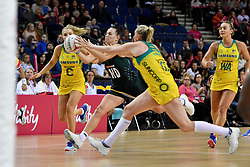 Spar Proteas' Shadine Van Der Merwe in action with Samsung Diamonds' Caitlin Thwaites during the Vitality Netball International Series match at the Echo Arena, Liverpool.