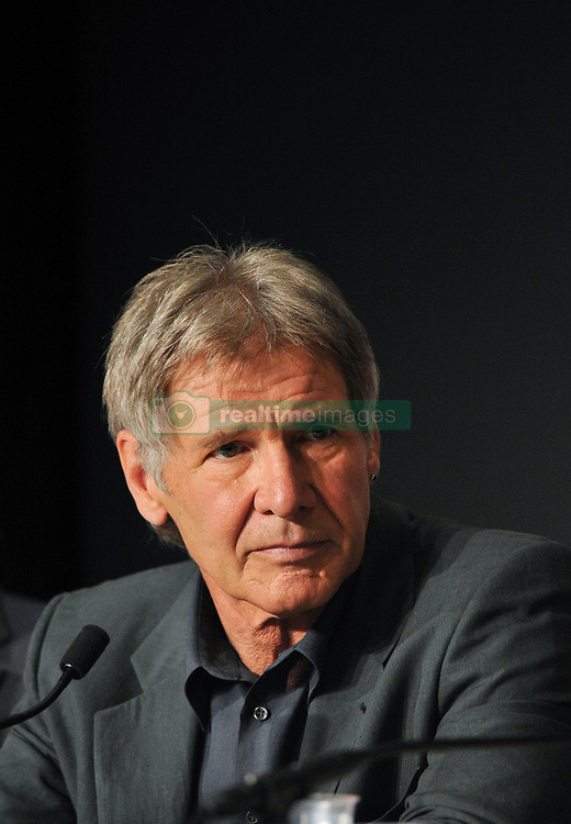 """File photo : Harrison Ford attends a press conference for the film 'Indiana Jones and The Kingdom of The Crystal Skull' at the Palais des Festivals during the 61st International Cannes Film Festival in Cannes, France on May 18, 2008. The 72-year-old, star of the Indiana Jones and Star Wars films, reported engine failure and crash-landed his vintage plane on a Venice golf course in Los Angeles. He was breathing and alert when medics arrived and took him to hospital in a """"fair to moderate"""" condition, a fire department spokesman said. Photo by Eric Catarina/Pool/ABACAPRESS.COM  