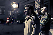 Film director Louis Sutherland photographed on the job - on the set of a television commercial in downtown Wellington, for an Australian advertising-agency client. Louis Sutherland graduated from Toi Whakaari with a Bachelor of Performing Arts (Acting) in 2003.   http://www.thesweetshop.tv   http://markandlouis.com/